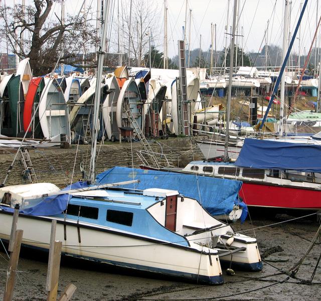Boats in Belstead Creek, Ipswich