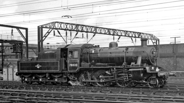 BR Standard 2MT 2-6-0 at Crewe