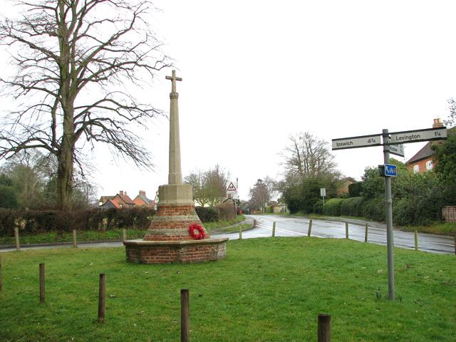 The war memorial in Nacton