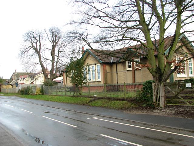 The Street past Nacton Primary School