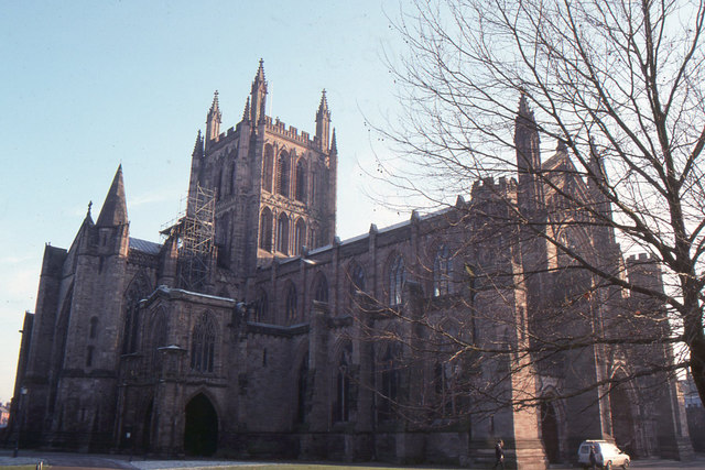Hereford Cathedral from the north-west