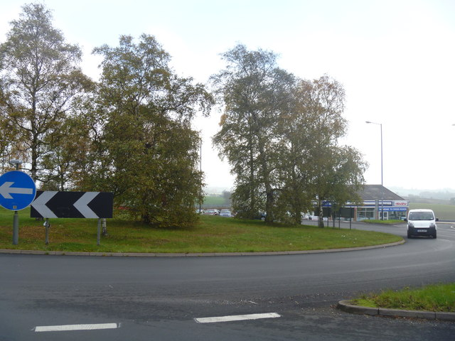 Roundabout at the junction
