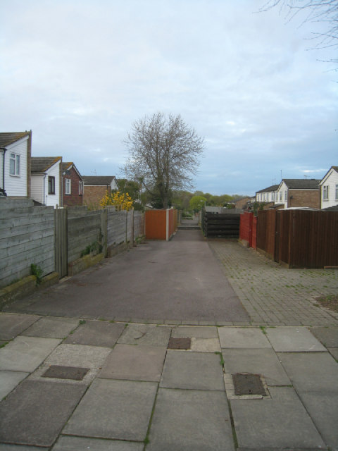 Typical estate back alley
