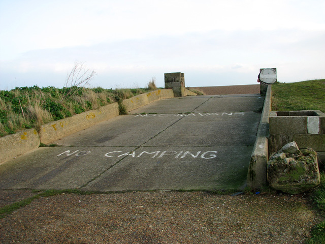 Concrete ramp onto the beach, Shingle Street