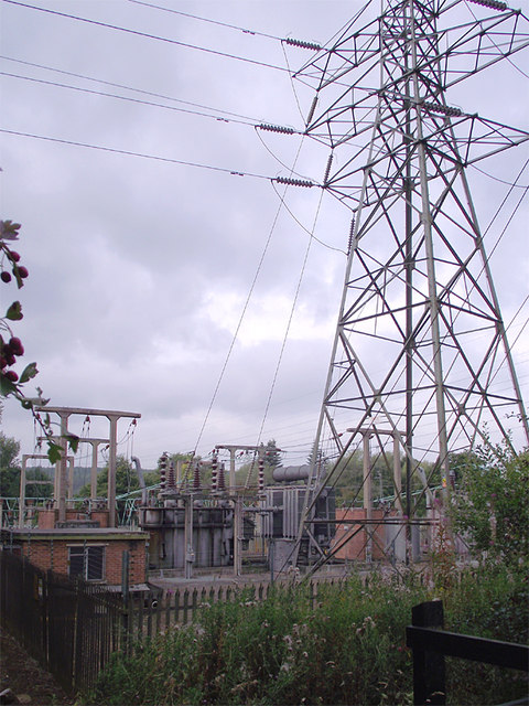 Electricity substation at  Meaford, Staffordshire