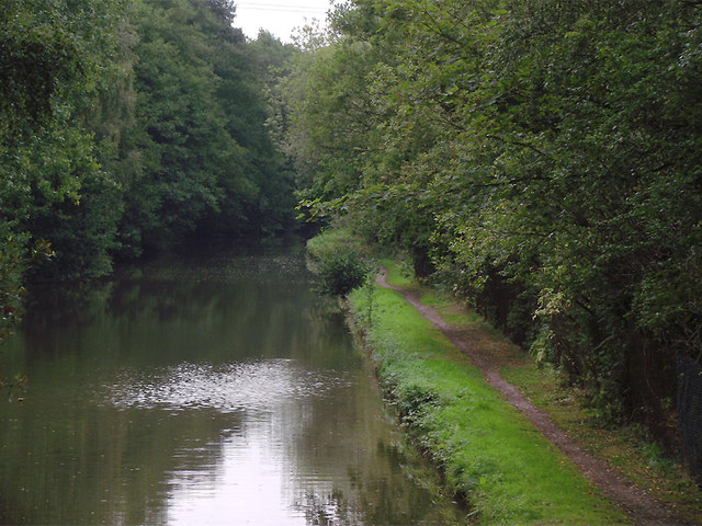 Trent and Mersey Canal south of Barlaston, Staffordshire