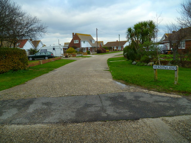 The southern end of Meadowland in Selsey