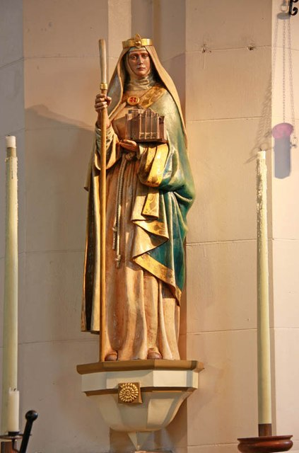 St Hilda with St Cyprian, Brockley Road, Crofton Park - Statue