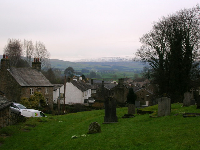 Churchyard view, Whittington