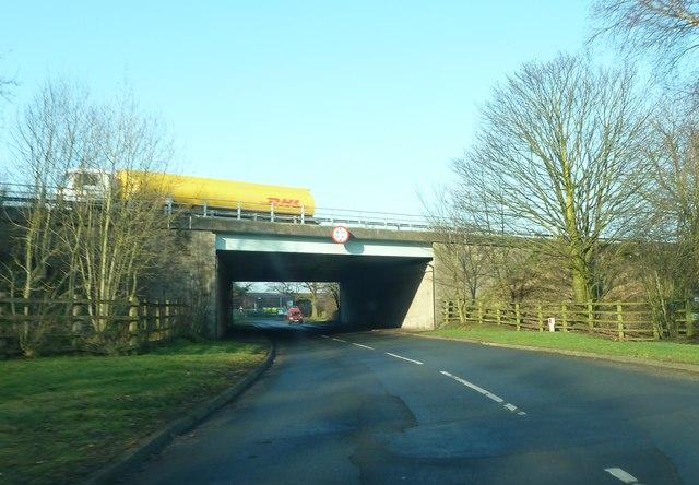 Stubbins lane passing under M6