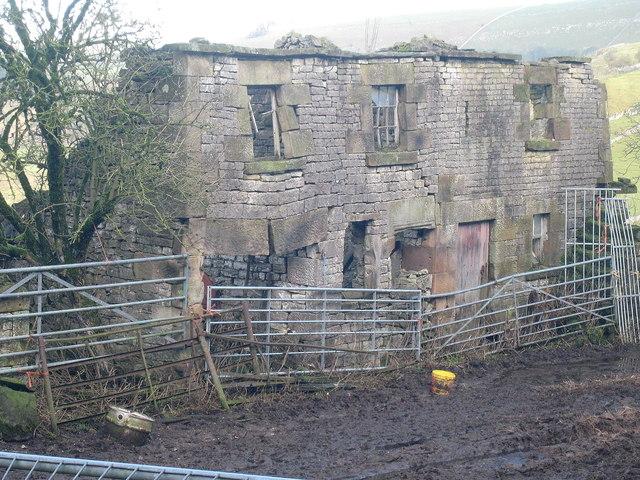 Crumbling facade, Narrowdale