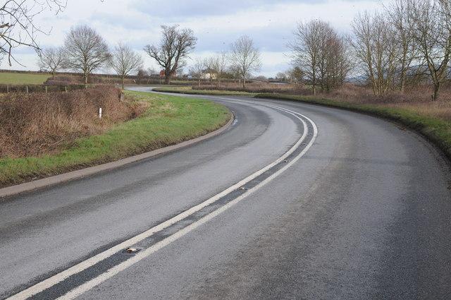 The A438 near Winforton