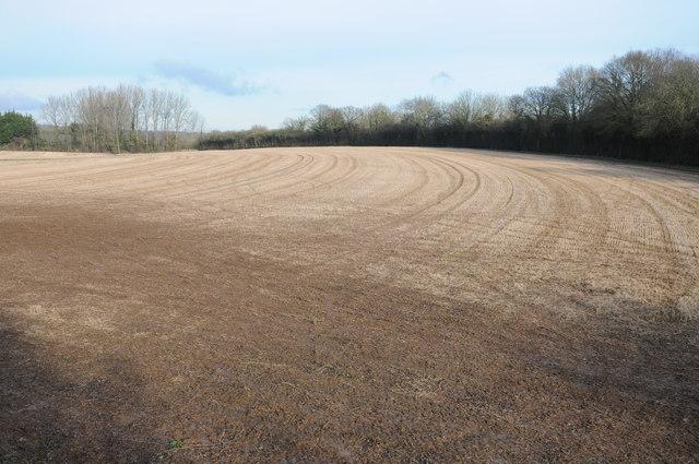 Stubble field near Eardisley