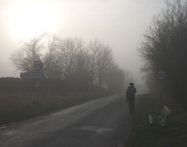 Entering Gamblesby