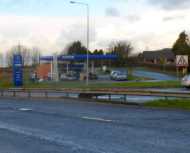 Power filling station and shop, Stalling Down near Cowbridge