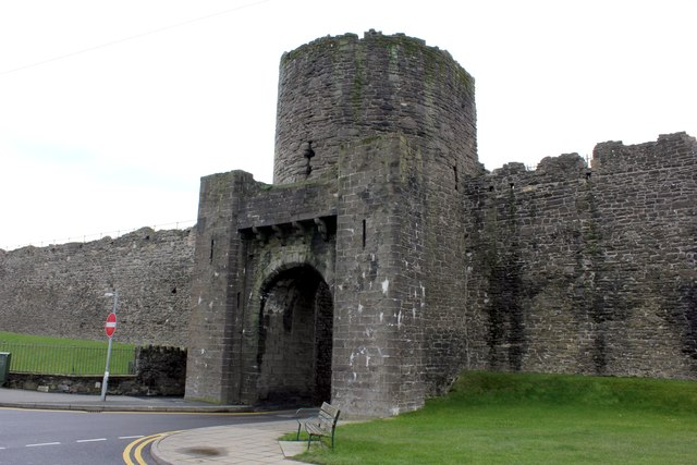 The West Gate of Conwy Town Walls