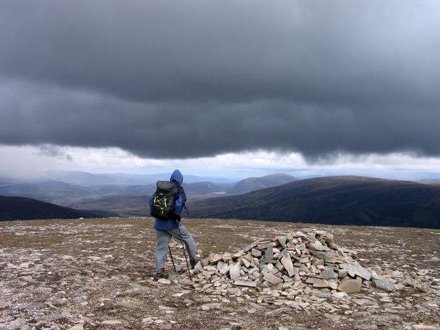 Summit cairn of A' Mharconaich