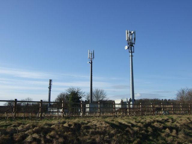 Communications masts off West Woods Road