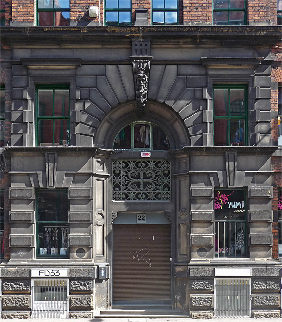 Detail of 22 Lever Street, Manchester