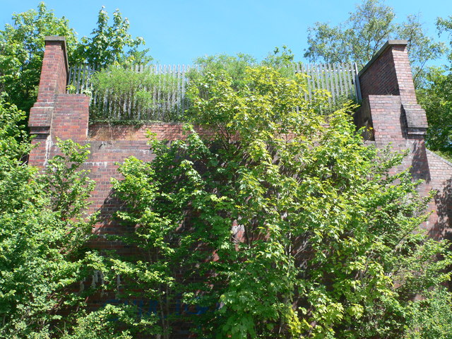 Remains of old railway bridge near Resolution Way
