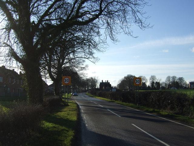 Entering Thorner on Bramham Road