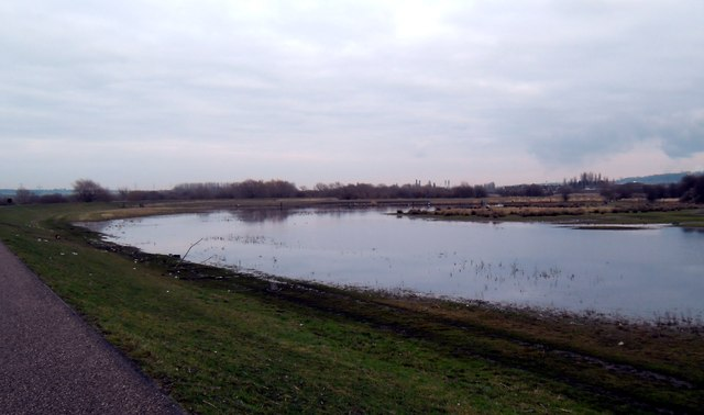 Floodwater at Whitwood Mere Castleford
