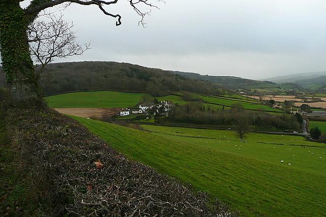 View towards Tivington