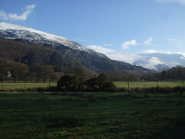 View from Llanberis towards Glyder Fawr