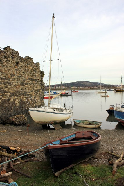 Boats on Conwy Quay