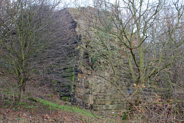 Remains of rail bridge over Dearne Valley