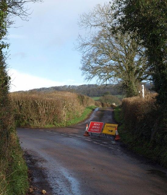 Lane junction near Awliscombe