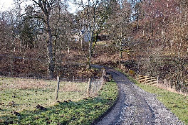 Track past Skiprig, Portmore Estate