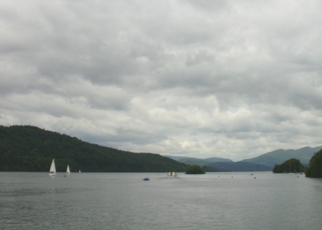 Windermere, Looking north towards Hen Holm