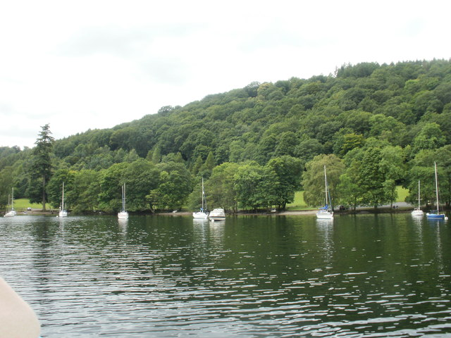 Boats moored by Belt Ash Coppice