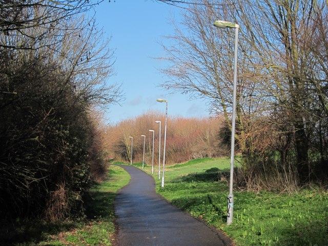Footpath past Eastbourne Hospital