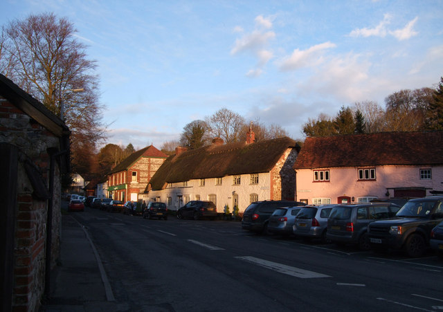 Traditional cottages, Oxford Street, Aldbourne