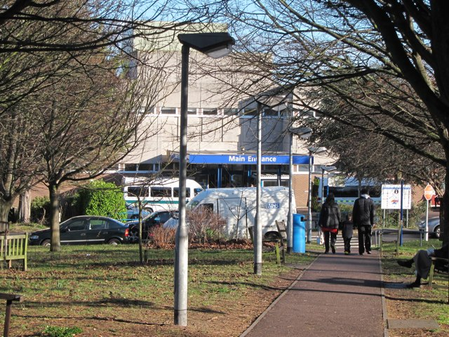Eastbourne Hospital entrance path