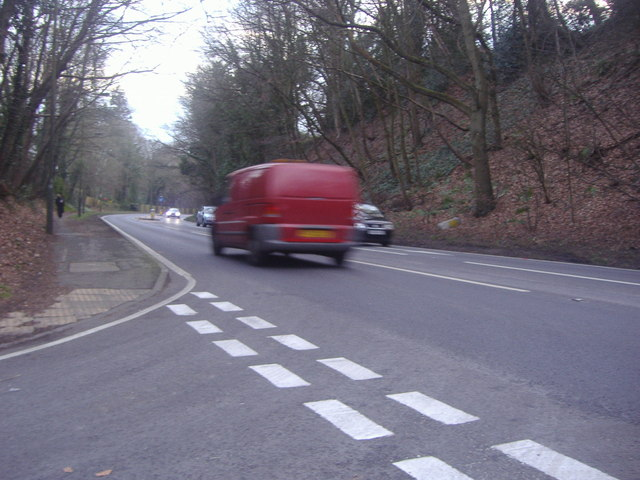 Junction of Chart Lane and the A24, Dorking