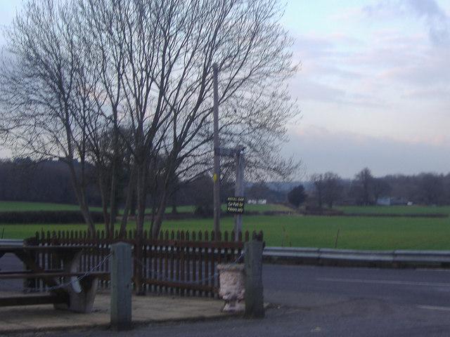 Exit from the Royal Oak car park, Stonebridge