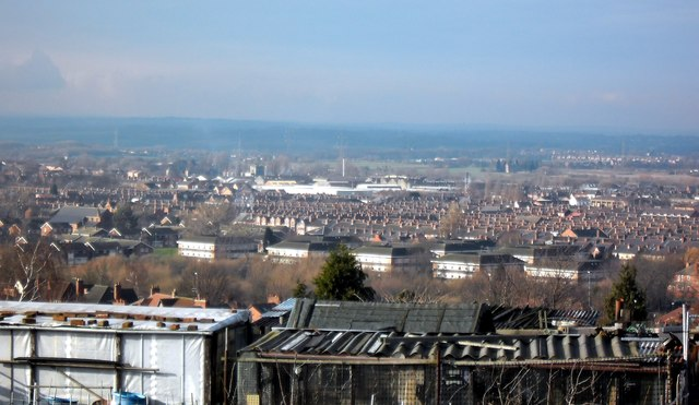 View over Castleford from Redhill Avenue