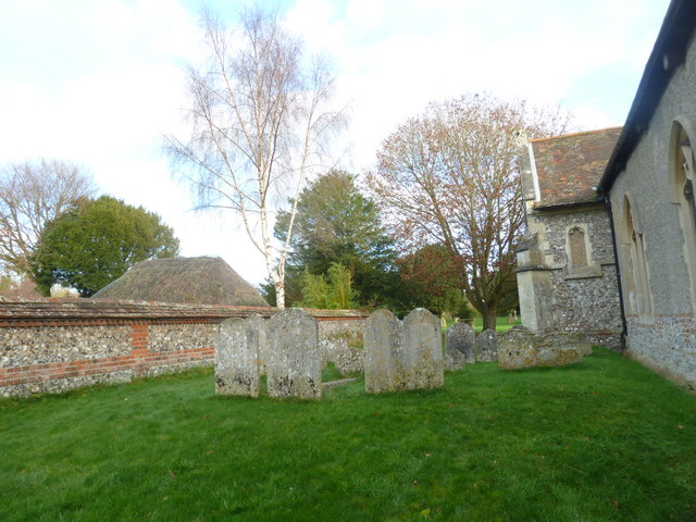St Peter's at St Mary Bourne- churchyard wall
