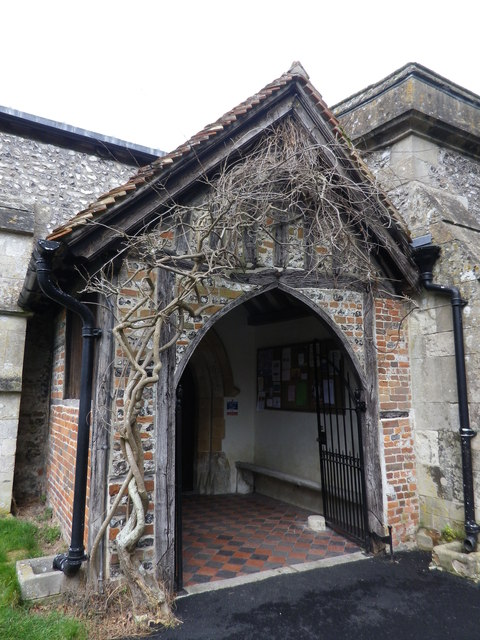 St Peter's at St Mary Bourne- church porch