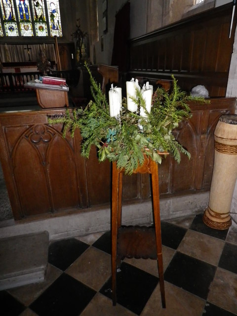 St Peter's at St Mary Bourne- advent crown