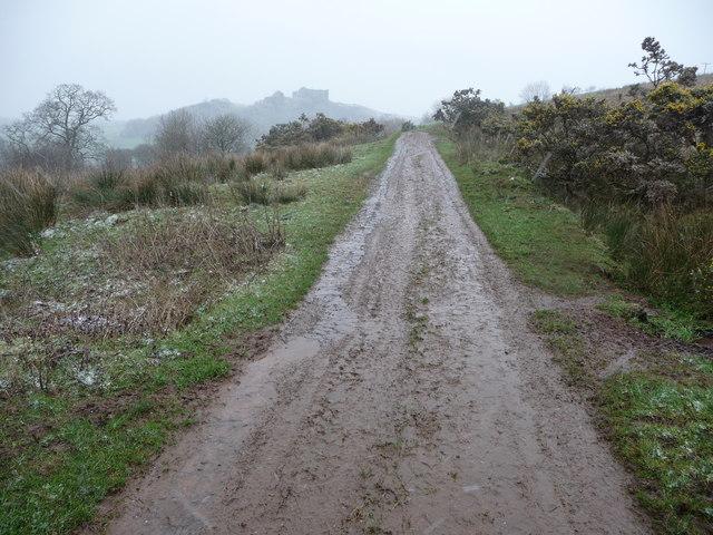 Upland track above the Nant Llygad Llwchwr