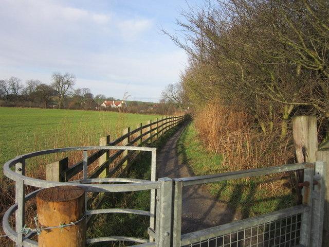A path leading to Littlemoor Lane, Thorner