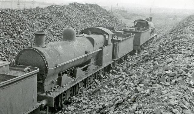 Ex-LNW 0-8-0s dumped at Bescot Locomotive Depot