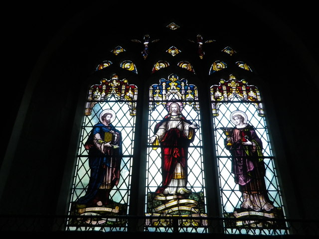 St Peter's at St Mary Bourne- stained glass window (2)