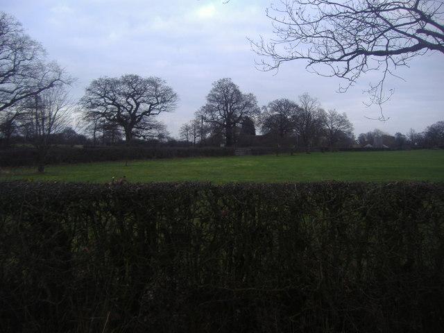 Overlooking Leigh cricket club