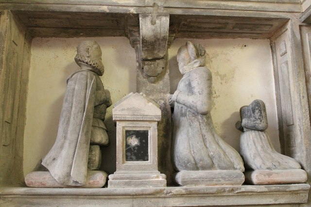 Memorial to John Witherick and wife, Claxby church