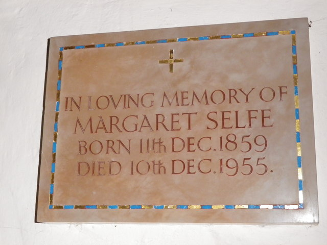 St Peter's at St Mary Bourne- memorial (4)